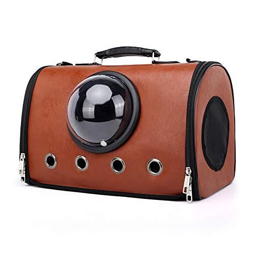 TIKEN Pet Bag Raumkapsel Outdoor Tragbare Transparente Design Blase Rucksack Atmungsaktive Handtasche Katze Hund Reise Vier Jahreszeiten Universal Fashion,Dark Brown -