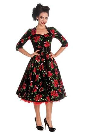 Hell Bunny Kleid ETERNITY 50'S DRESS black Schwarz XS
