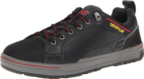 Caterpillar Mens Brode Steel-Toe Work Shoe Black Leather