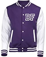 123t VARSITY JACKET WITH FRONT INITIAL PERSONALISATION (Purple / White) By 123t