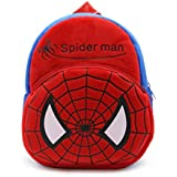 blue tree boy's and girl's plush soft spiderman cartoon school bag (Multi color, 3 to 5 years)