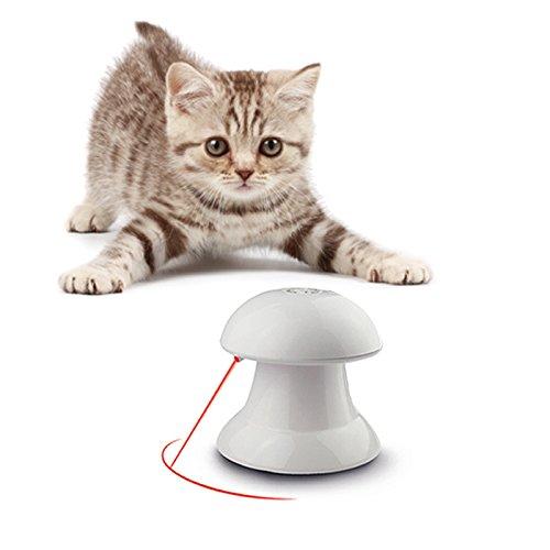 Lenezaro Katzenspielzeug, interaktiv, elektronisch, automatisch, mit rotem Lichtpunkt