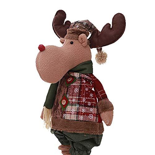 Bomcomi Flexible Karierte Sankt-Ren-Schneemann-Kind-Geschenk-Fesitval Vitrine Weihnachtsbaum Weihnachten Hanging-Spielzeug-Puppe -