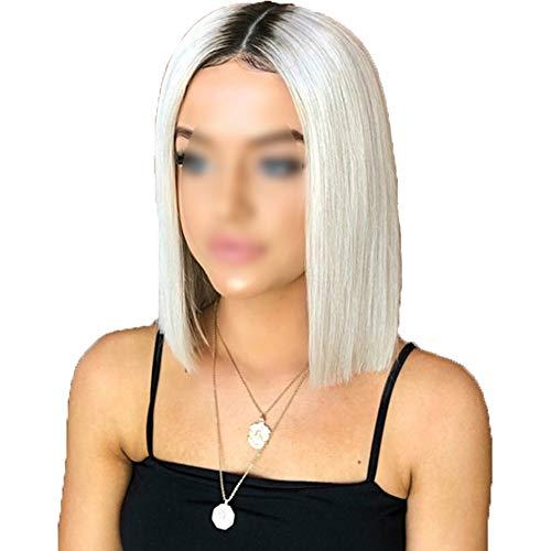 Kurzen Absatz Weiße Gerade Volle Perücke Weibliche Modelle Hitzebeständige Synthetische Perücke Kostüm Ball Kostüm Harajuku Rollenspiel Partei Haar ()