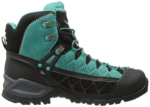 Salewa Alp Flow Mid Gore-Tex Bergschuh, Chaussures de Randonnée Hautes Femme Turquoise (Venom/bright Acqua 8457)