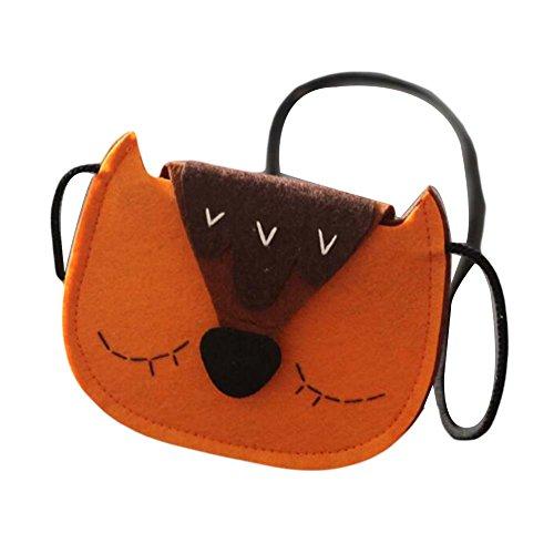 Handgefertigte Kinder Schultertasche Non-Woven Stoff Kleine Messenger Bag Geldbörse Cute Fox (Messenger Woven)