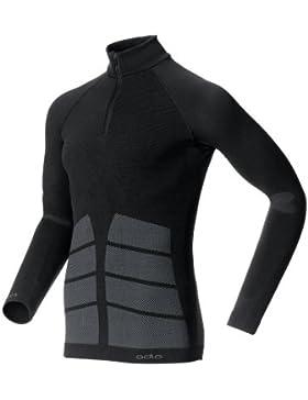 Odlo Evolution Warm - Camiseta interior térmica sin costuras para hombre, color negro, talla M