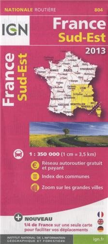 804 FRANCE SUD-EST 2013 1/350.000