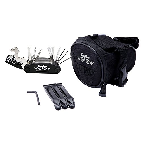 WOTOW Bicycle Repair Set Bike Outdoor Seat Saddle Bag 14 in 1 Multi Function Tool Kit Chain Splitter