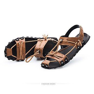 Us8 Cn42 Sandálias Marrom Carreira 5 Couro Escritório Do Luz Água Fora Verão Casuais Homens 5 9 Eu41 Uk7 Negra Conforto Do 8 Sapatos Primavera Dos E 4TFq4U