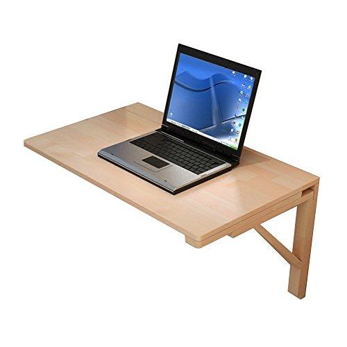 NYDZ Massivholz Klappwand Tisch Küche Wand-Schreibtisch Wohnzimmer Computer Organizer Kind Studie Workstation Dinding Drop-Blatt-Tabellen (größe : 80×50cm)