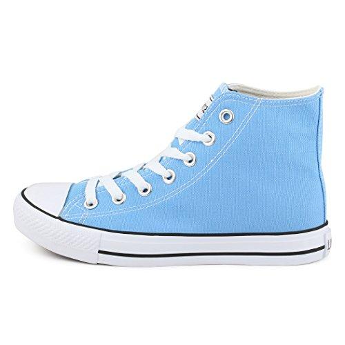 best-boots Donna Uomo scarpe da ginnastica Azul - Skyblue