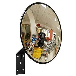 KitaBulb Verkehrsspiegel Sicherheitsspiegel Überwachungsspiegel Panoramaspiegel Konvex Spiegel 30cm Schwarz
