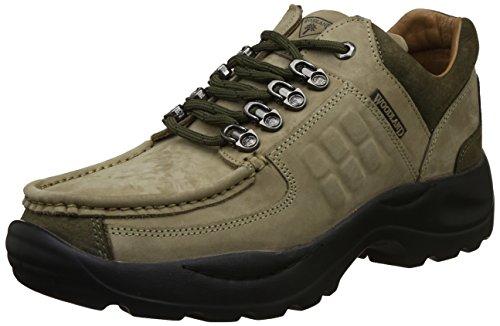 Woodland Men's Khaki Leather Sneakers-11 UK/India (45 EU) (G 4092WSA)