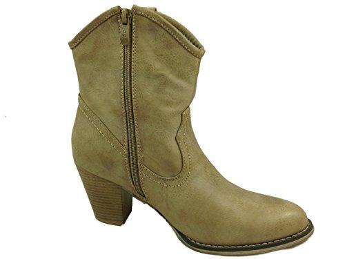 Foster Footwear - Stivali da Cowboy da ragazza' donna Taupe