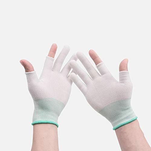 Ywlanlantrading Handschuh Arbeitsversicherungshandschuhe Abriebfeste, rutschfeste, wasserdichte, trockene Industriearbeitshandschuhe (Color : White 12 Pairs, Size : S)