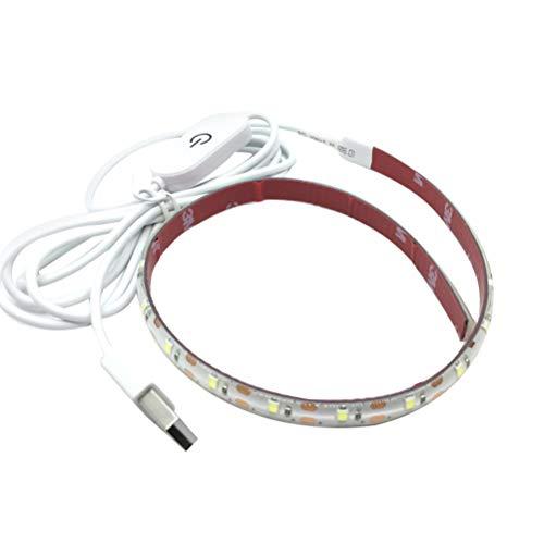 Healifty Weiße helle Nähmaschine 5V USB 4000K, die tragbaren Pasten-Lichtstreifen beleuchtet -