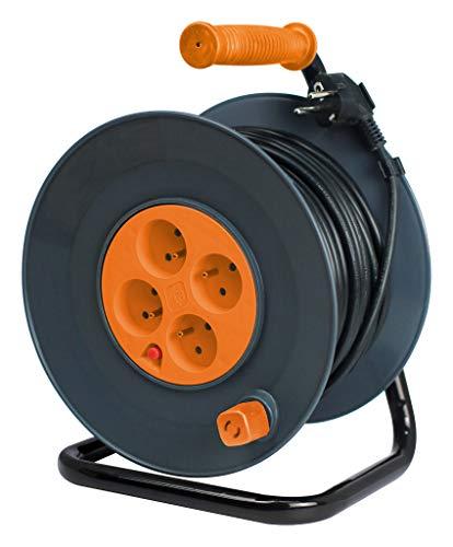 Enrouleur HO5VV-F 4 prises 3G1,5 40m + coupe-circuit - Zenitech