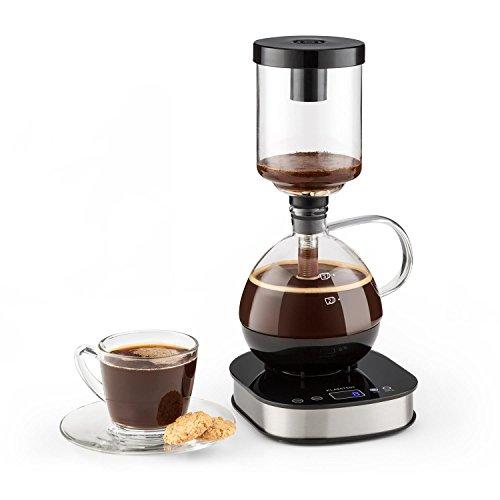 Klarstein Drop • Siphon-Kaffeemaschine • Kaffeezubereiter • 360° Basis • LCD-Display • Touchbedienung • 500 Watt • Warmhaltefunktion • automatischer und manueller Zubereitungsmodus • - Kaffeemaschine Vakuum Glas