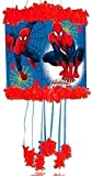 Ultimate Spiderman Pull-Zeichenfolge Piñata & Augenbinde Kinderparty Spiel