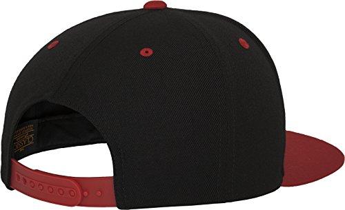 Flexfit Classic Snapback 2-Tone Kappe, Mehrfarbig, one size Black/Red