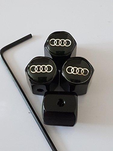 Speed Demons Noir AUDI anti bouchons de protection vol jeu de caches de bouchon de valve 4 tous les modèles RS S ligne TT