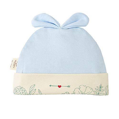 mlpnko Baby Hut Dünnschliff Baumwolle Neugeborenen männlichen und weiblichen Baby Hut 0-3 Monate Fetal Cap blau 36CM