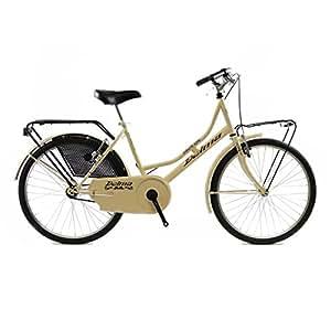 DELMA Vélo de ville hollandais pour femme, 60 cm, 1 vitesse