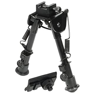 UTG Zweibein Tactical OP Bipod-Swat Combat Profile Adjustable Height, Schwarz, TL-BP78