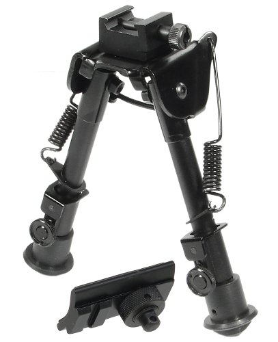 ein Tactical Op Bipod-swat/Combat Profile Adjustable Height Bi-fuß-taktik, Schwarz, M ()