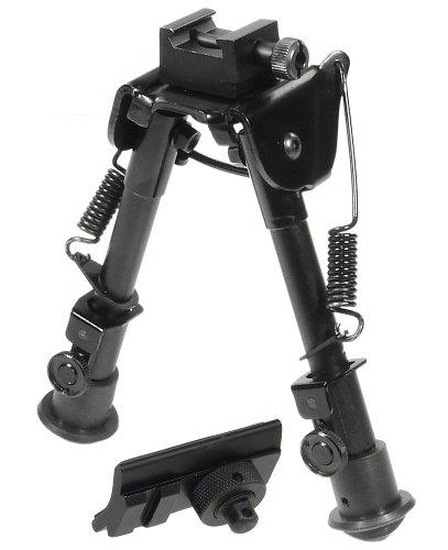 UTG Erwachsene Zweibein Tactical Op Bipod-swat/Combat Profile Adjustable Height Bi-fuß-taktik, Schwarz, M
