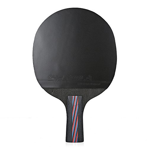 Zhuhaimei,Tischtennis-leichtes Ping Pong-Schläger-Paddel im Freien mit dem Speichern der Tasche(Color:SCHWARZ UND ROT,Size:PENHOLD)