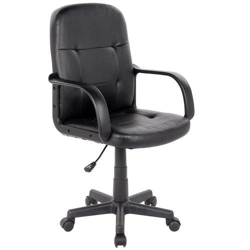 Poltrona ufficio ergonomica sedia ufficio girevole sedia da scrivania regolabile fintapelle