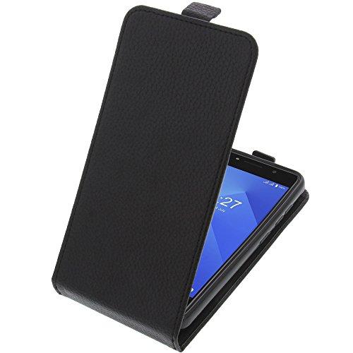 foto-kontor Funda para M-Net Power 1 Protectora Tipo Flip para móvil Negra