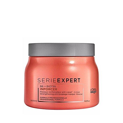 Professionnel Expert Serie (L'Oréal Professionnel Serie Expert Inforcer Maske, Stärkende Maske gegen Haarbruch, 1er Pack (1 x 500 ml))