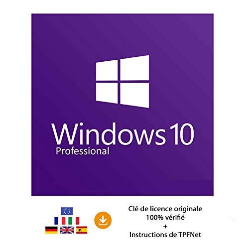 Microsoft Windows 10 Pro 32 Bits & 64 Bits - Clé de Licence Originale par Postale et E-Mail + Instructions de TPFNet - Livraison Maximum 60min