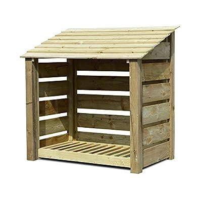 Greetham 4ft High Log Store/Garden Storage - Heavy Duty Pressure Treated Wood.