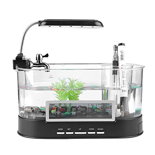 USB Desktop Aquarium Mini Tanque Peces Agua Corriente