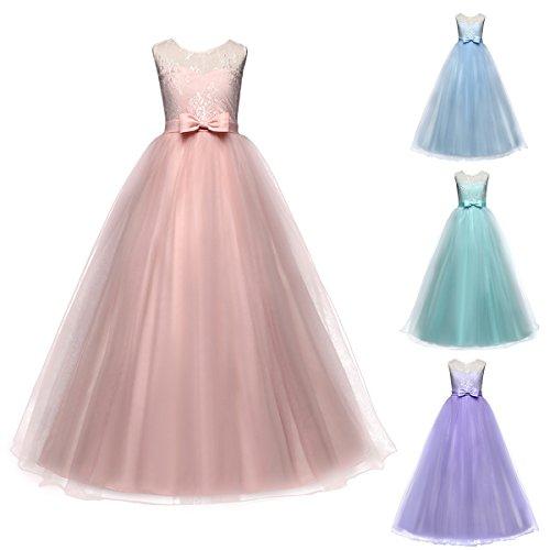 Mädchen Kinder Mit Kleider Blumenmädchenkleider Hochzeitskleid ...