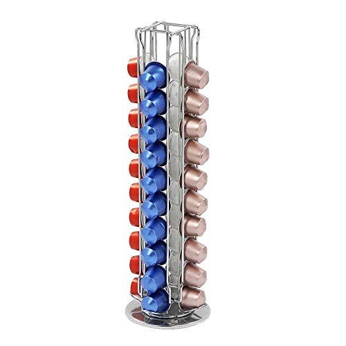 Portacapsule In Metallo Per Nespresso, Distributore Rotante, Capienza: 40 Capsule, 4 Colonne by NORBERTBERKELEY
