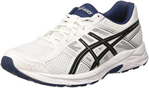 Asics T715N0190, Zapatillas de Running Para Hombre, Blanco (White/Black/Insignia Blue), 42 EU