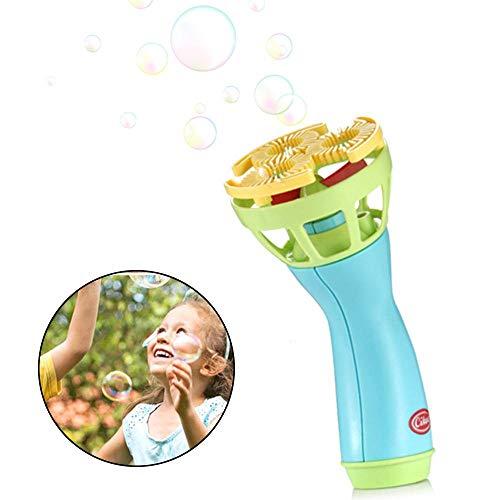HAMKAW Macchina Automatica per Bolle per Bambini, elettrica, per bollicine giganti, Facile da Usare, con Ventola a Batteria, per Bagno e Feste all\'aperto