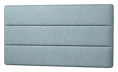 Happy Beds Cornell Lined Headboard, Fabric, Duck Egg Blue Cotton, 4 ft 6-Inch Double - low-cost UK light shop.