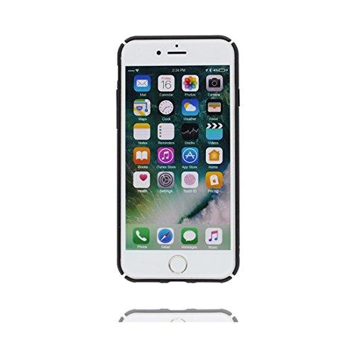iPhone 6 Plus Copertura Cover, Durevole Shell TPU per le ragazze iPhone 6 Plus / 6S Plus Custodia Case 5.5 A prova di polvere - Stars Spazio Pianeti galassiali Nero 2
