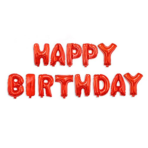 Cadillaps Buchstaben Ballons HAPPY BIRTHDAY Oder I LOVE YOU Folienballon Geburstag Dekoration Für Party