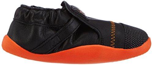 Bobux 460785 Unisex-Kinder Sneakers Orange (schwarz/orange)