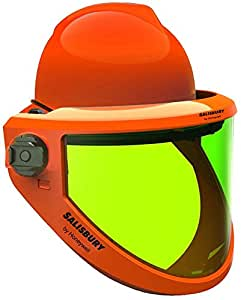 Arc Flash 12 cal/cm2 Integrated Helmet And FaceShield - Conforms to GS-ET-29 Class 2 EN50365 Class 0 up to 1000V CE Marked - [CD-CLY-540-AS12-CE] - The Revolutionary AS12-CE Is A Weight Balanced Arc Flash Protection Face Shield