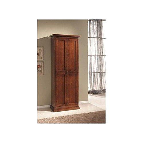 Estea mobili - mobile armadio legno scarpiera 2 ante arte povera colore noce dispensa x scarpe - 882