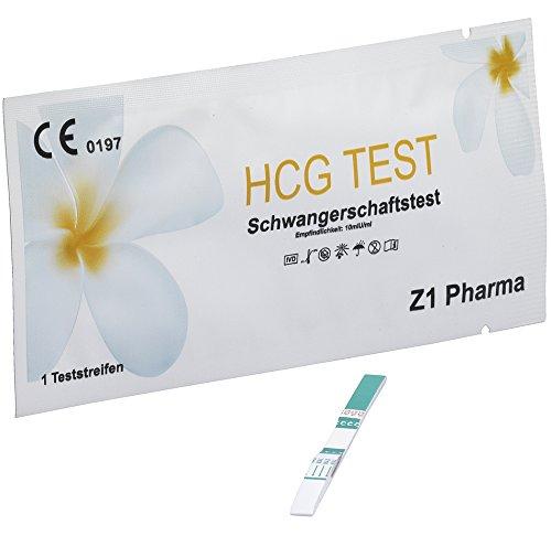 15x Z1 Pharma Schwangerschaftstest - Empfindlichkeit: 10mIU/ml