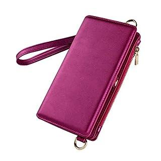 ZCP Samsung Note9, 3-in-1-Handy-Portemonnaie Mit Multifunktionsfunktion Able Abnehmbare Magnetische Hartholsterhülle, Damen/Herren, Anti-Kratz-, Anti-Druck-Handyhülle (Farbe : Purple)